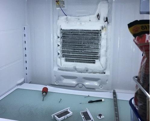 냉장실 안 환풍구 얼음.jpg
