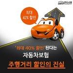 [카드뉴스] '최대 40% 할인된다'는 자동차보험 '주행거리 할인'의 진실