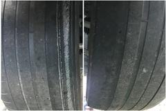 """10개월 만에 철심 노출된 미쉐린 타이어...""""휠 얼라인먼트 탓"""""""