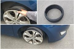 [노컷영상] 고속도로 달리던 중 빠져버린  타이어 '세상에~'