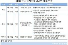 하나·BNK·메리츠금융지주 금감원 제재 13건 '불명예'...KB·신한·농협 0건 '모범적'