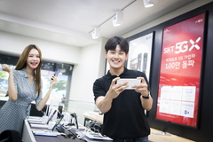 SK텔레콤, 세계최초 5G가입자 100만 돌파…LTE 보다 2배 빨라