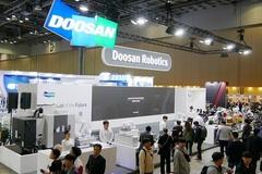 두산, 국내 최대 로봇 박람회서 자체 기술로 개발한 '로봇용 정밀감속기' 최초 공개
