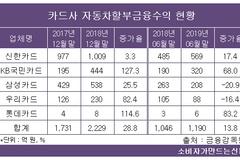 카드사, 자동차할부금융 수익 증가세...신한·국민카드 1, 2위