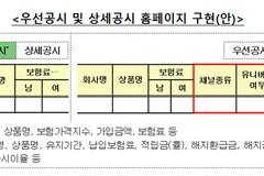 """금감원 보험상품 비교공시...""""나열식에서 맞춤형으로 개편"""""""